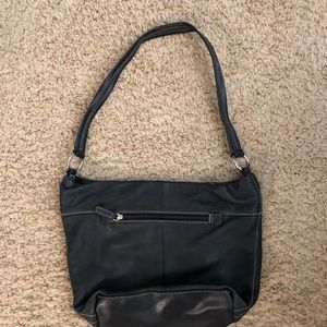 Black leather St Johns Bay purse